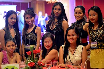 Lovely young women in Manila